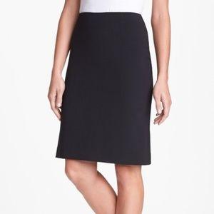 Theory Golda 2 Black Pencil Zipper Skirt Size 4